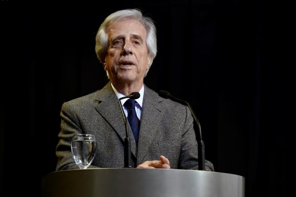 Tabaré Vázquez en la Torre Ejecutiva en Montevideo. Foto Fernando Ponzetto