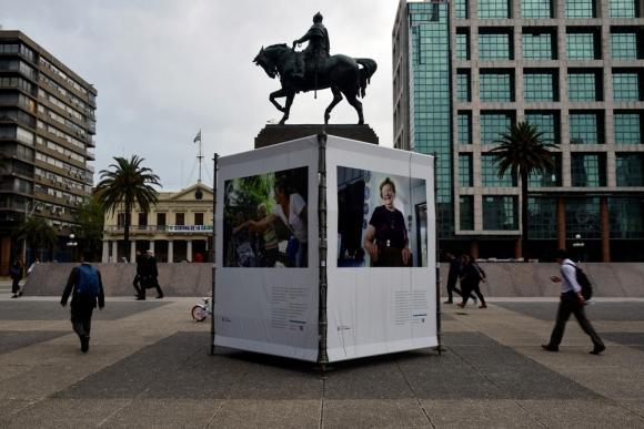 Plaza Independencia, Montevideo. Foto: Fernando Ponzetto.