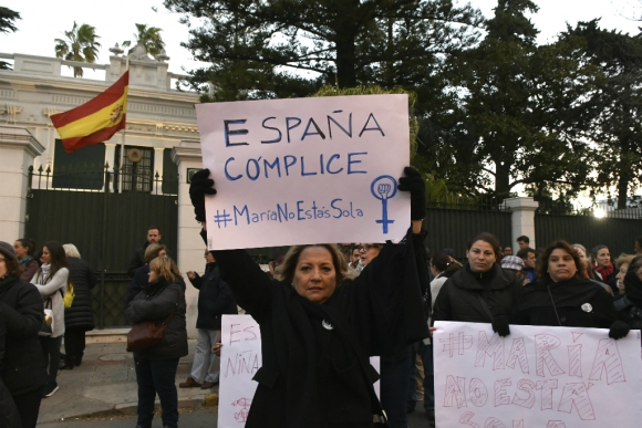 Apoyo a Caso María. Foto: Darwin Borrelli.