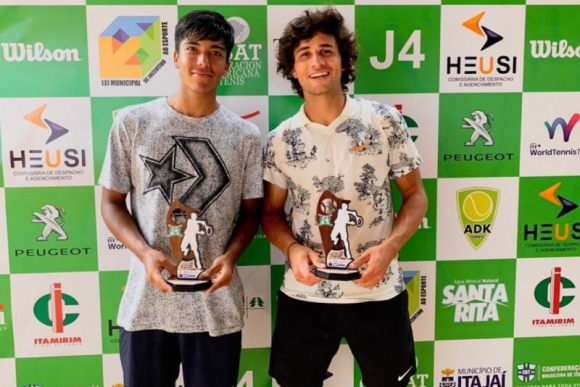 Dupla. Troche y Llanes ganaron el ITF de dobles de Itajaí. Foto: @AUT_Oficial