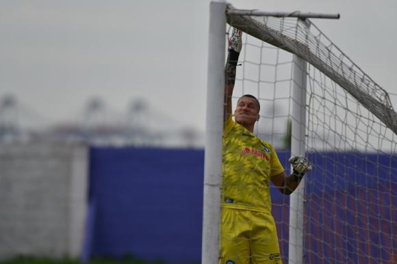 La alegría de Washington Aguerre tras el gol anotado ante Cerro. Foto: Fernando Ponzetto.
