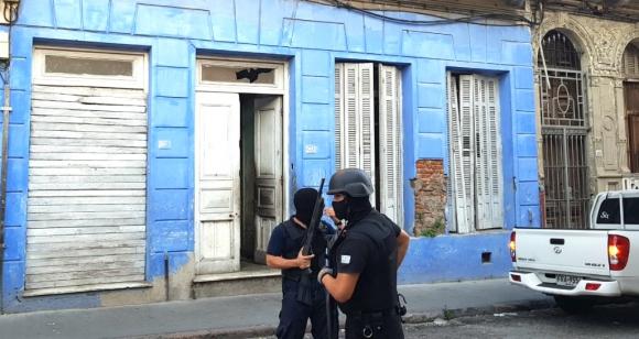 Operativo policial en Montevideo. Foto: Ministerio del Interior