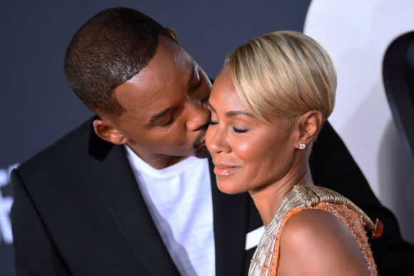 Will Smith y Jada Pinkett Smith. Foto: AFP