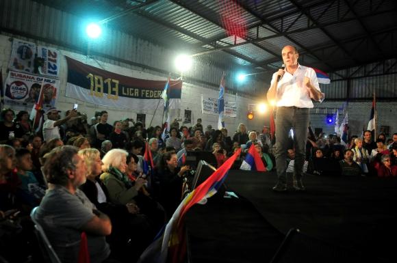 Daniel Martínez durante un acto en Maldonado. Foto: Ricardo Figueredo