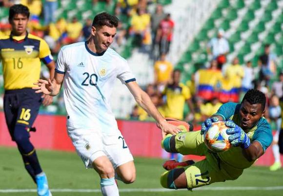 Argentina 6 - 1 Ecuador. Amistoso fecha FIFA. Foto: AFP.