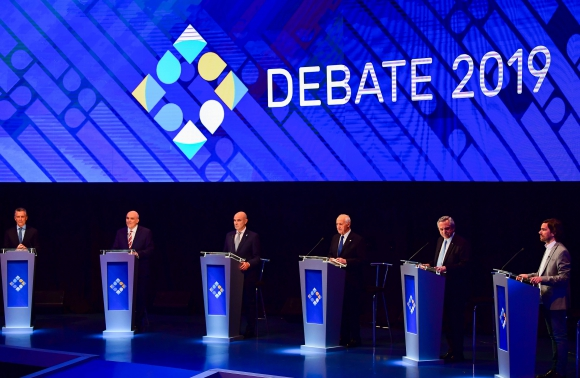 Debate en Argentina. Foto: AFP.