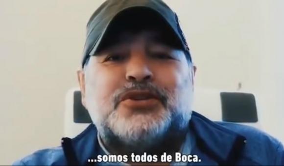 Diego Maradona en el spot de Boca Juniors