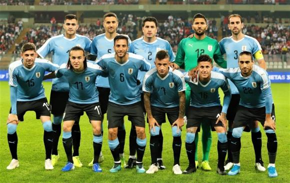 El once de Uruguay que salió a escena frente a Perú. Foto: @Uruguay.