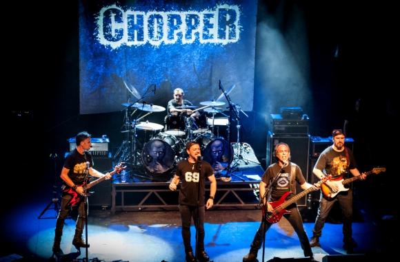 La banda de metal Chopper. Foto: Nicolas Coitino