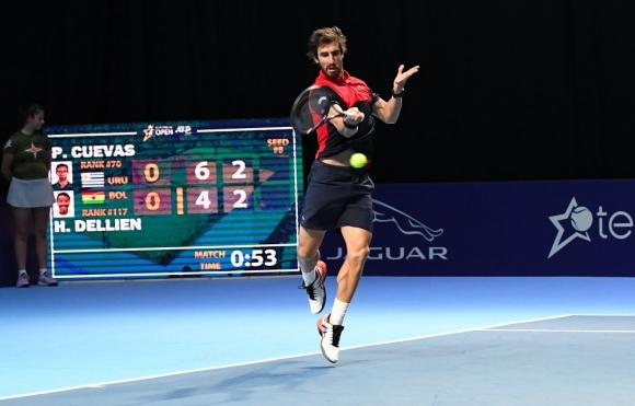 Pablo Cuevas en el ATP 250 de Amberes, Bélgica. Foto: @EuroTennisOpen
