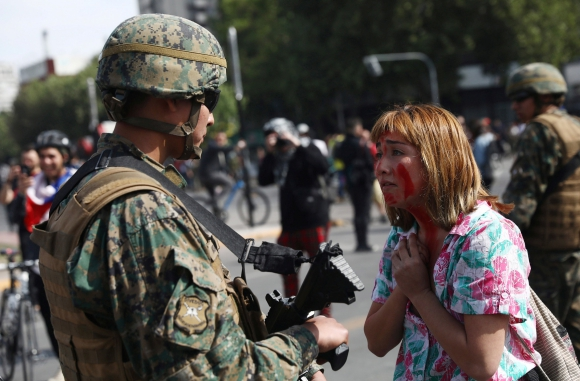Manifestaciones en Santiago de Chile. Foto: Reuters