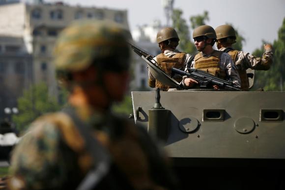 Militares en Santiago de Chile. Foto: Reuters