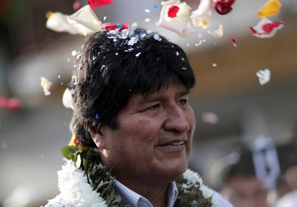 Evo Morales tras votar. Foto: Reuters