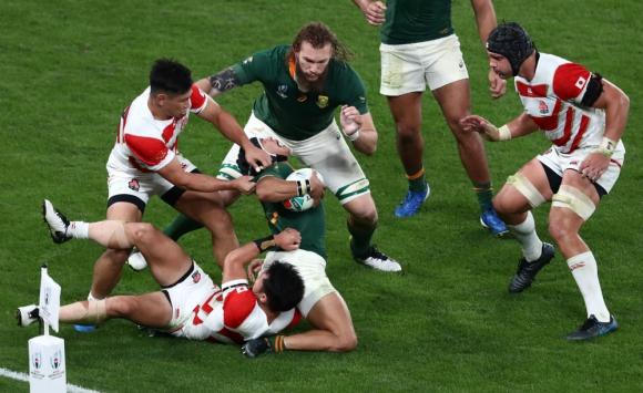 Sudáfrica está en las semifinales del Mundial de Rugby