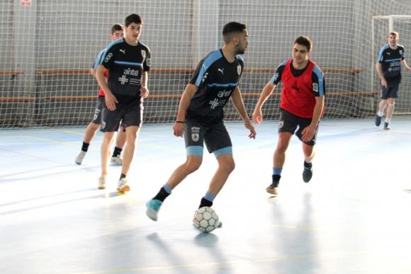 Copa América de Futsal: Uruguay entrenó en Montevideo y había viajado a Chile el pasado lunes. Foto: Matías Pérez / El País