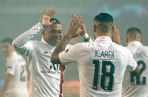 Kylian Mbappé y Mauro Icardi en PSG