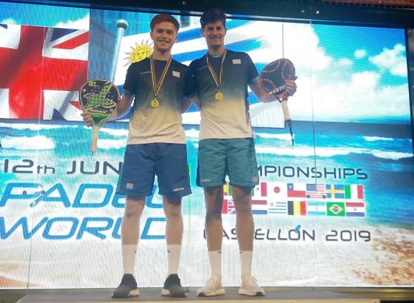 Martín Araújo  e Higor Ensslin en el Mundial de Padel en España.