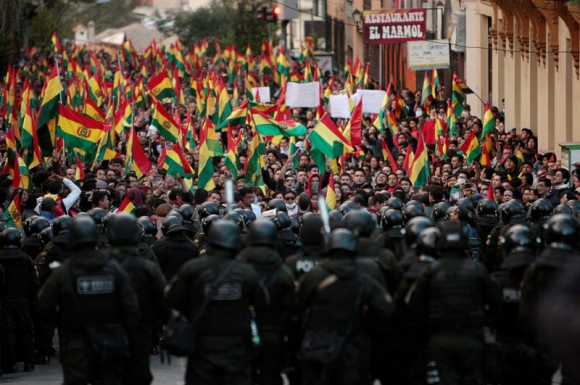 Protestas en Bolivia. Foto: Reuters.