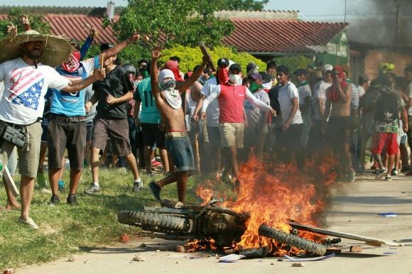 Protestas en Bolivia. Foto: AFP.