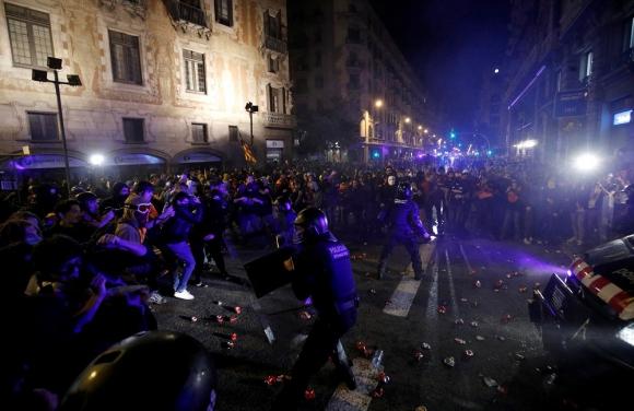 Manifestación en Cataluña, este sábado. Foto: Reuters