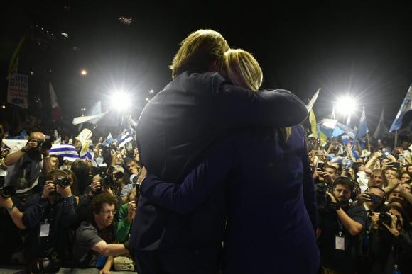 Luis Lacalle Pou y Beatriz Argimón, el domingo tras las elecciones nacionales. Foto: Fernando Ponzetto