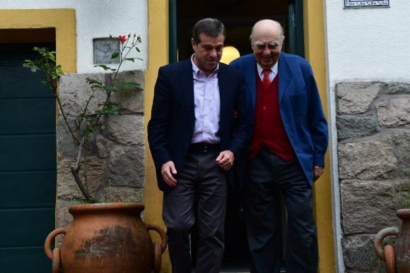 Ernesto Talvi este martes se reunió con Julio María Sanguinetti. Foto: Francisco Flores