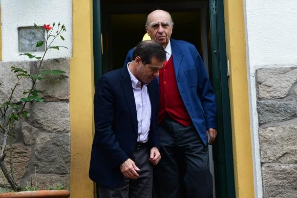 """En la reunión con Sanguinetti se trató de alinear el """"partido para estar unidos"""", dijo Ernesto Talvi. Foto: Francisco Flores"""