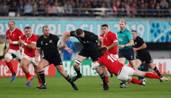 Los All Blacks vencieron a Gales y se quedaron con el tercer puesto del Mundial de Japón. Foto: AFP.