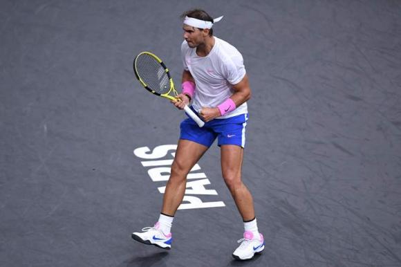 Rafael Nadal en el duelo frente a Tsonga. Foto: AFP