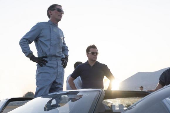 """Christian Bale y Matt Damon en """"Contra lo imposible"""". Foto: Difusión"""