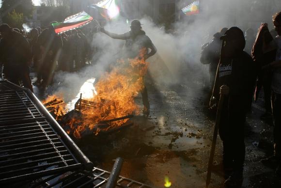 Protestas en Chile. Foto: Reuters