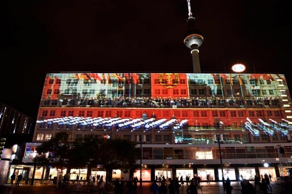 Berlín celebra el aniversario de la caída del muro. Foto: AFP