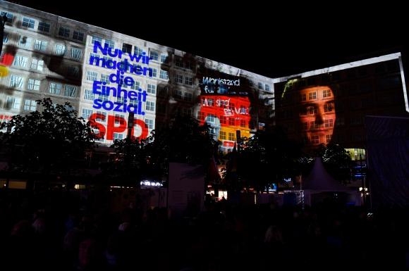 Berlín lleno de luces. Foto: AFP.