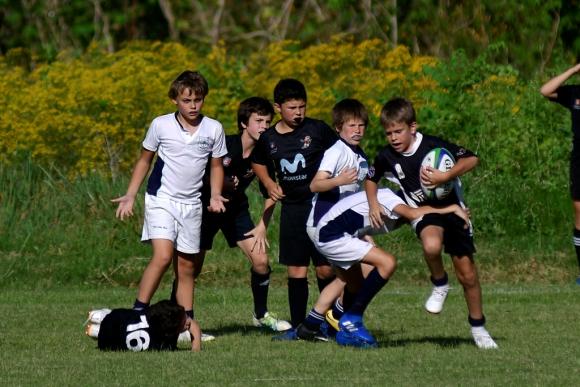 Rugby en el Valentín Martínez. Foto: Fernando Ponzetto.
