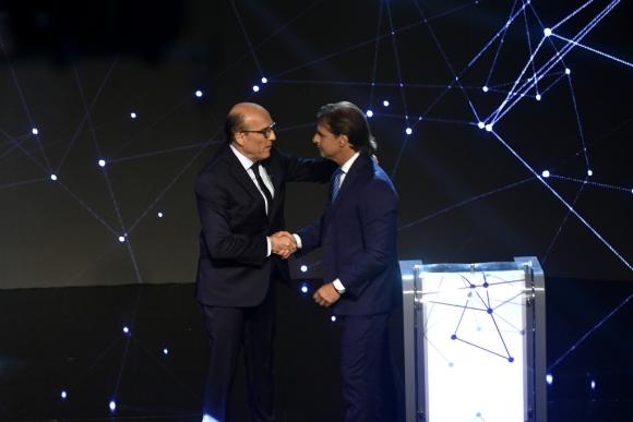 Primer debate entre Daniel Martínez y Luis Lacalle Pou. Foto: Fernando Ponzetto