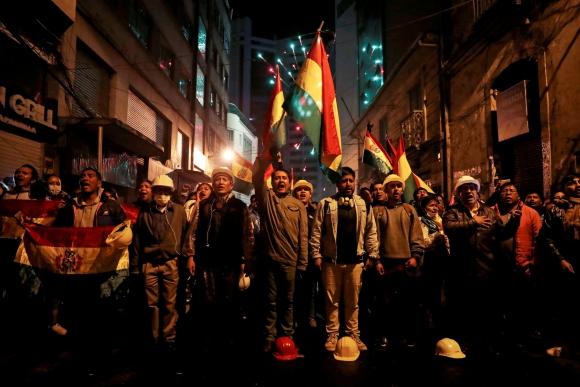 Manifestaciones en Bolivia. Foto: Reuters