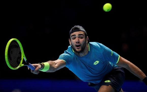 Matteo Berrettini en el ATP Finals - Torneo de Maestros de Londres 2019