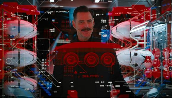 Jim Carrey en la película de Sonic. Foto: Difusión