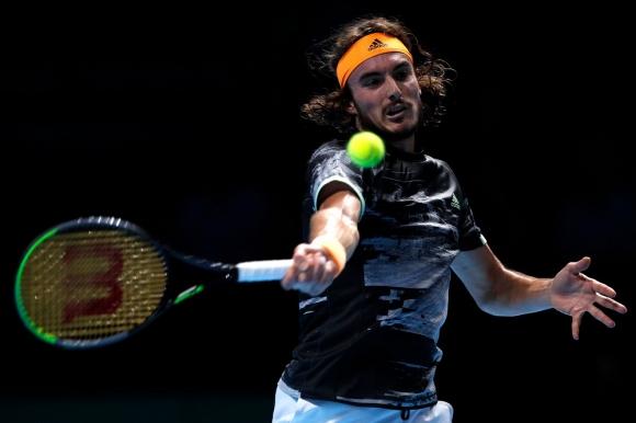 Stefanos Tsitsipas en el ATP Finals 2019