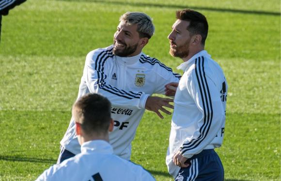 Sergio Agüero y Lionel Messi en Argentina