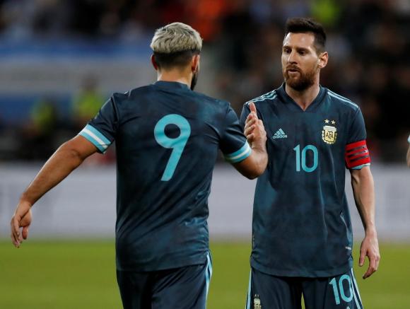 Sergio Aguero y Lionel Messi