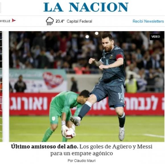 Portada digital del medio La Nación. Foto: Captura.