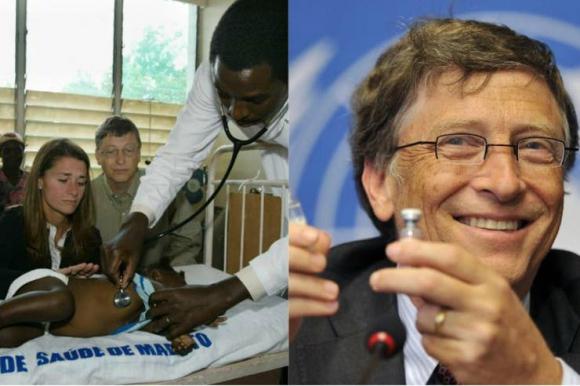 Bill Gates ha viajado alrededor del mundo junto a su esposa Melinda para hacer donaciones. Foto: El Tiempo- GDA