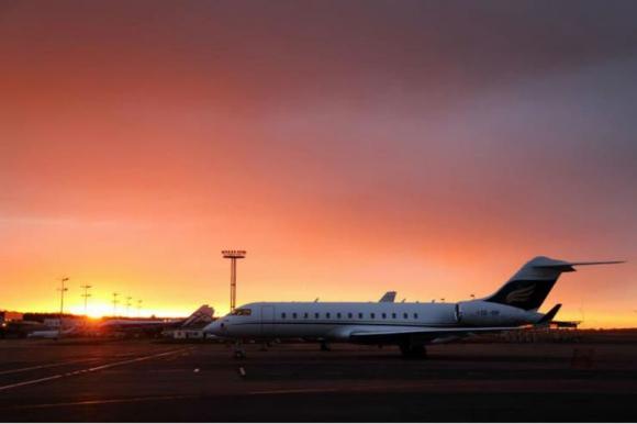 El avión privado de Bill Gates, un Bombardier BD-700 Global Express. Foto: El Tiempo - GDA