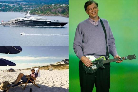 Viajes en yate y partidos de tenis ante estrellas, algunos de los gustos que se ha dado Bill Gates. Foto: El Tiempo - GDA