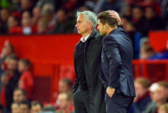 José Mourinho y Mauricio Pochettino. Foto: EFE.