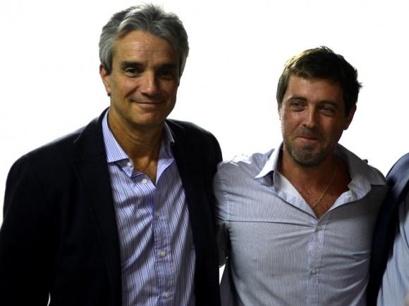 José Decurnex e Ignacio Alonso, presidentes de Nacional y AUF