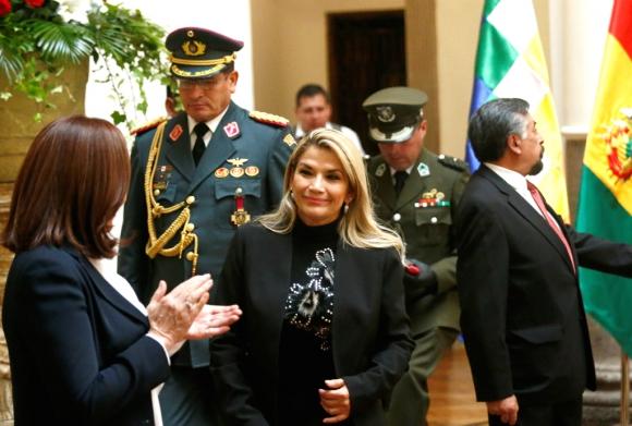 Jeanine Áñez, presidenta interina de Bolivia. Foto: Reuters