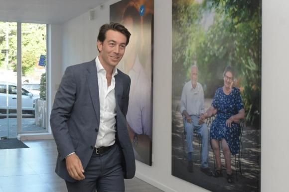 Juan Sartori se reunió este miércoles con Lacalle Pou en la sede del líder blanco. Foto: Marcelo Bonjour
