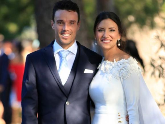 Roberto Bautista Agut y su esposa Ana